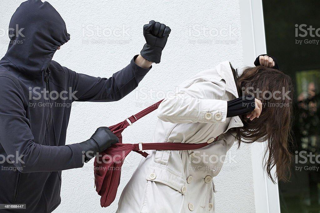 Personal assault stock photo
