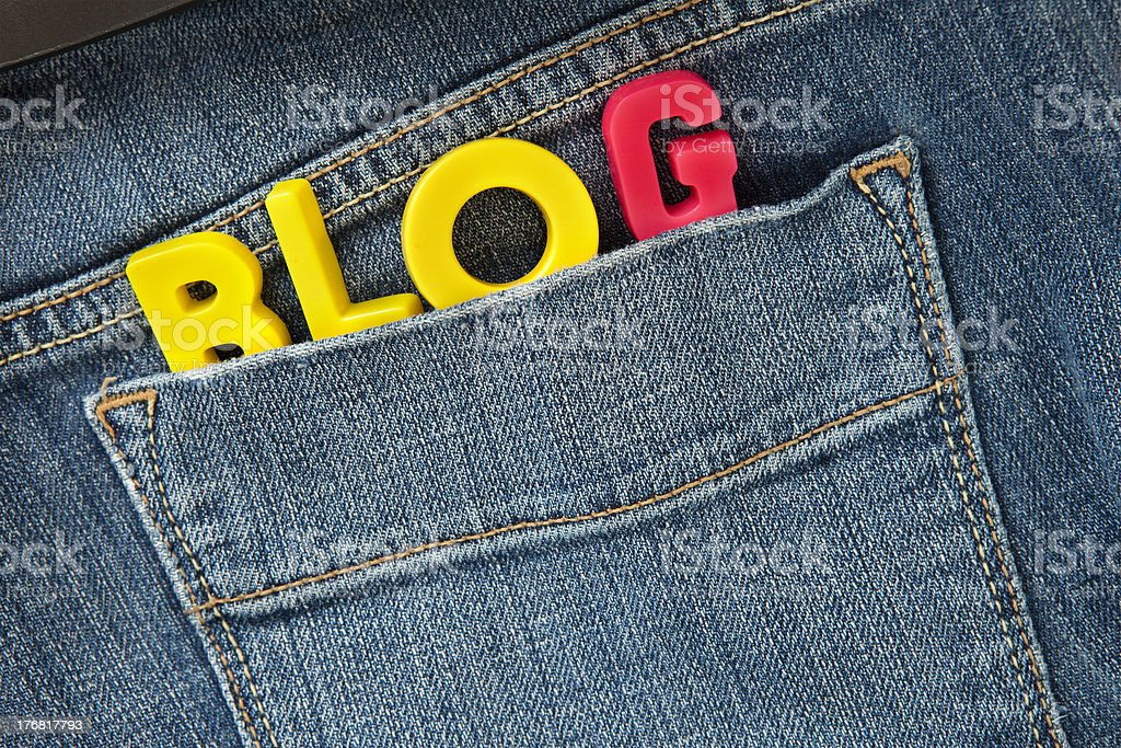 personal blog royalty-free stock photo