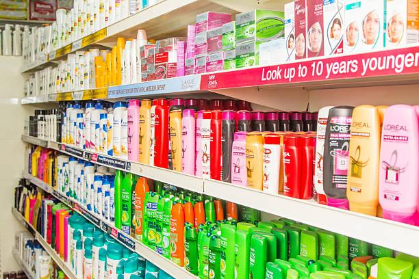 produkty do pielęgnacji w bangalore, indie supermarket - brand name zdjęcia i obrazy z banku zdjęć