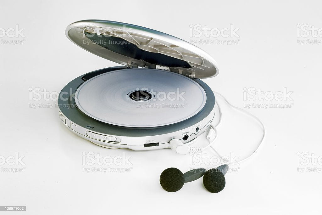personal cd player stock photo