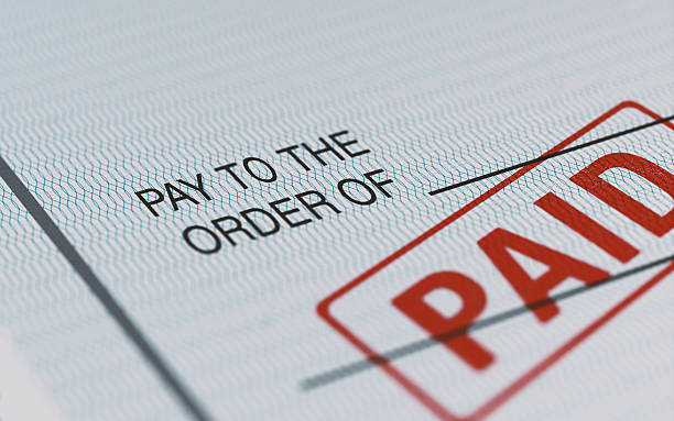 personal check with selective focus - paid stock pictures, royalty-free photos & images