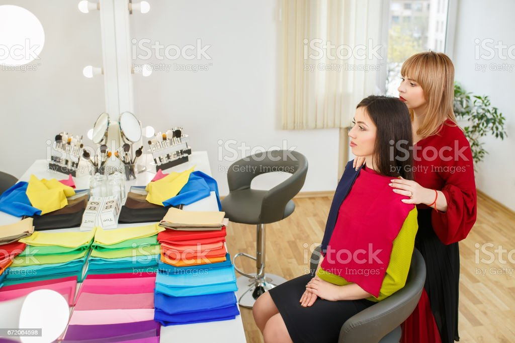 personal color analysis stock photo