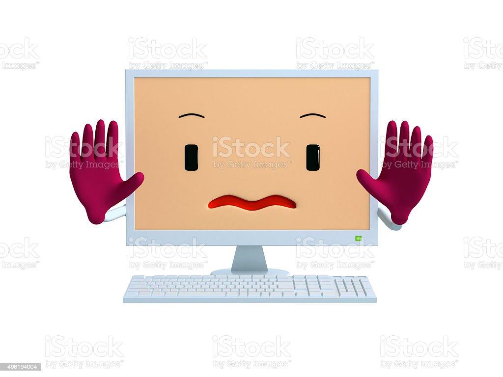 Personal computer mascot stock photo