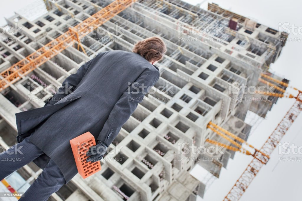 Personal contribution to construction stock photo