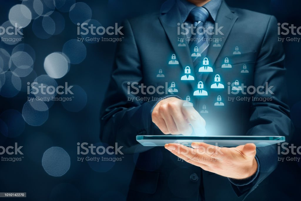 Personal data orotection and GDPR stock photo