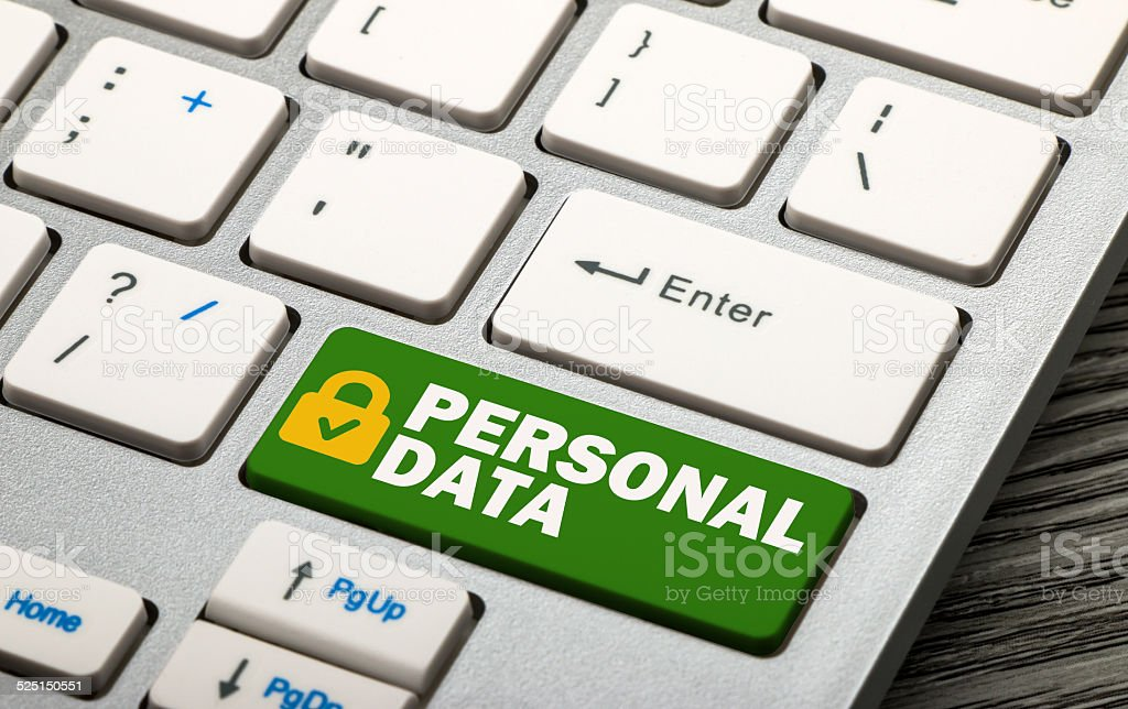personal data security stock photo