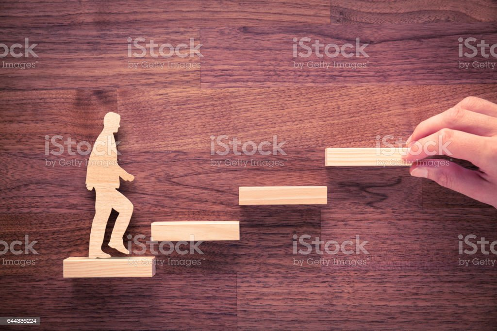 Personal development and career growth stock photo