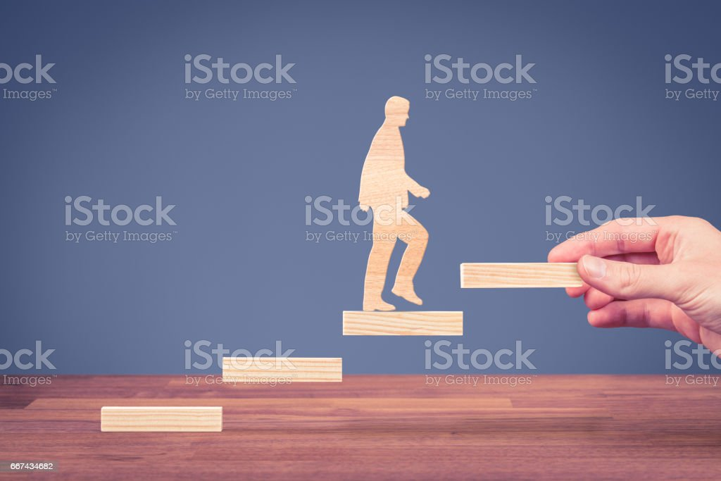 Personal development, career growth and motivation stock photo