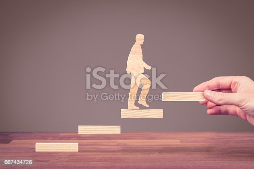 istock Personal development, career growth and motivation 667434726