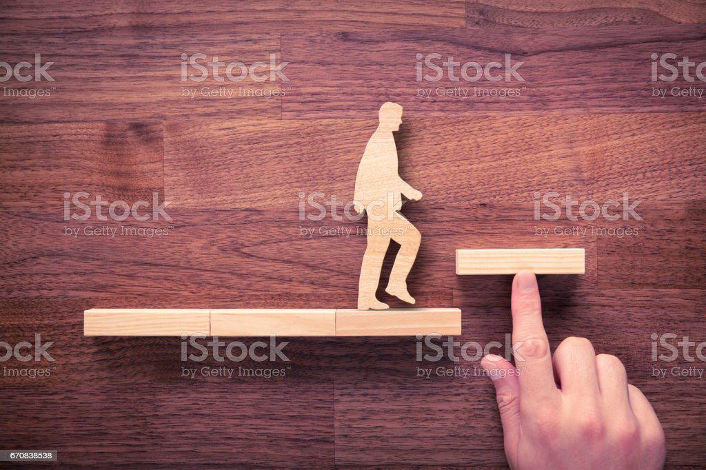 Personal development, personal and career growth stock photo