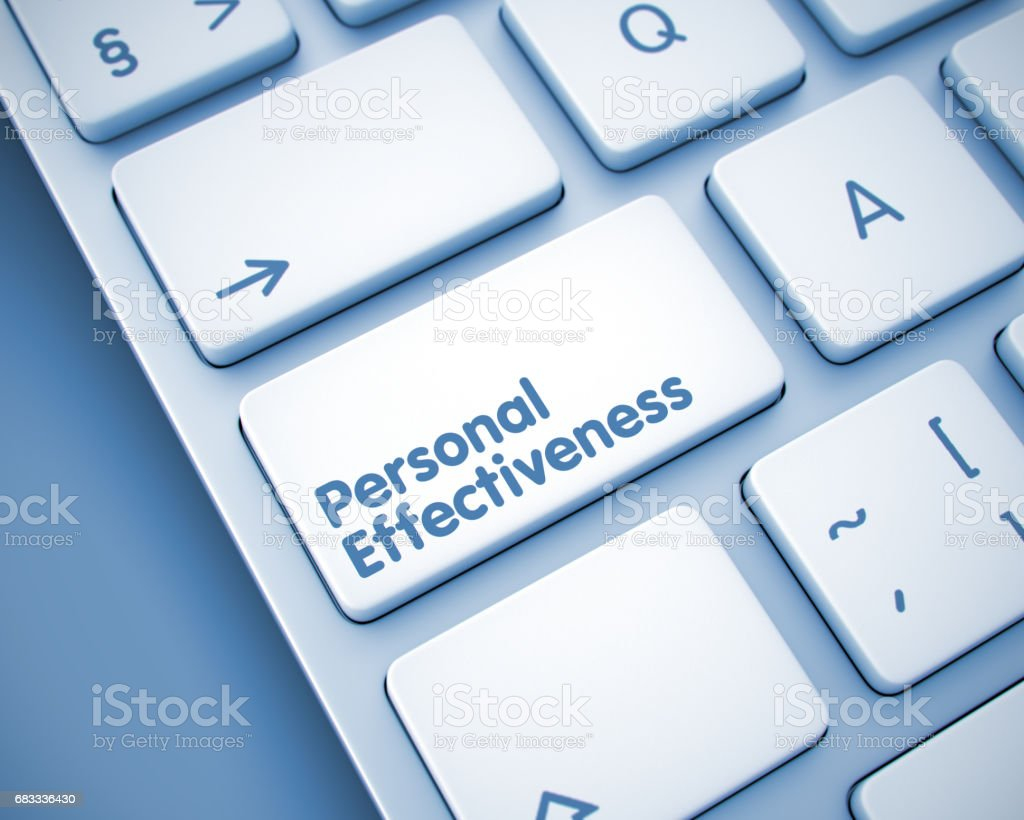 Personal Effectiveness - Message on the  Keyboard Key. 3 royalty-free stock photo