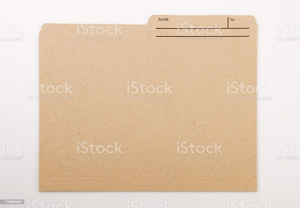 Personal File Folder stock photo