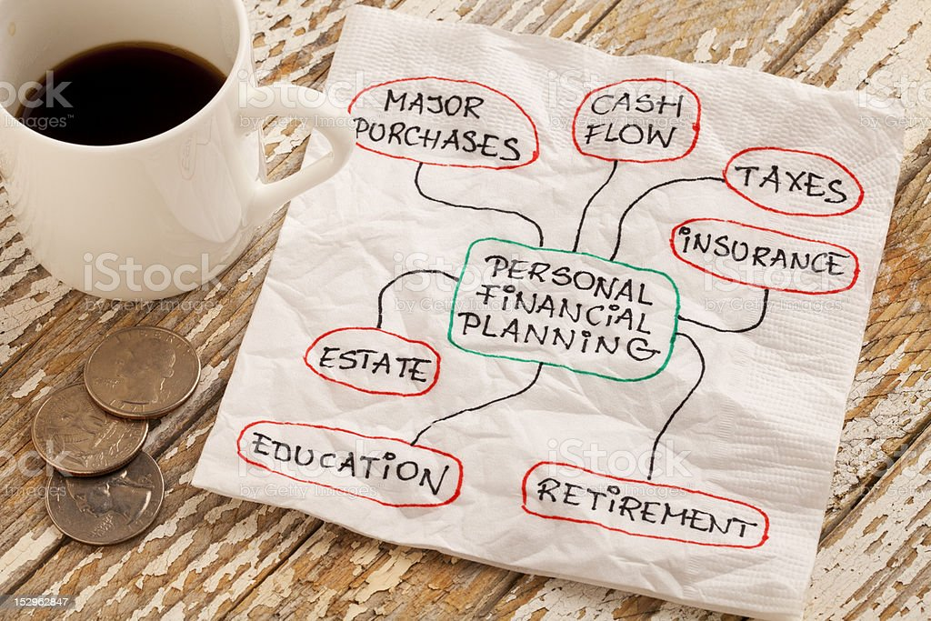 personal financial planning stock photo