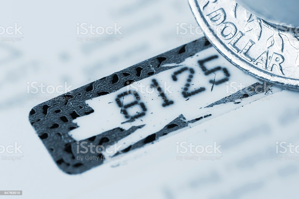 Personal identifier stock photo