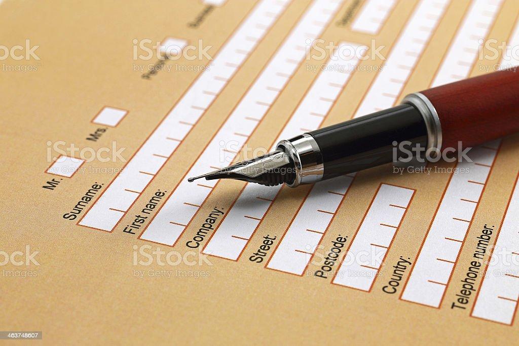 Persönliche Daten Formular – Foto