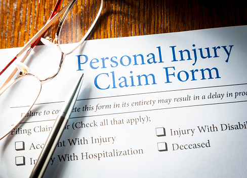Personal Injury Claim Form Stock Photo - Download Image Now