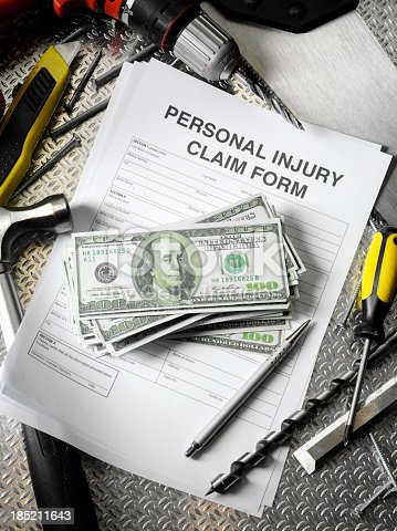 istock Personal Injury Form at Work 185211643