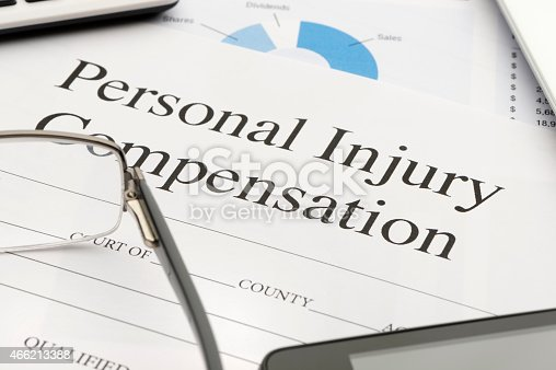 istock Personal injury form on a desk. 466213388