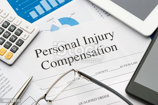 istock Personal injury form on a desk. 466213410