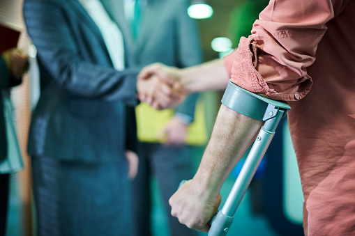 a man with a personal injury finally gets some legal representation