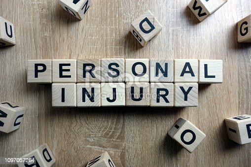 istock Personal injury text from wooden blocks 1097057264