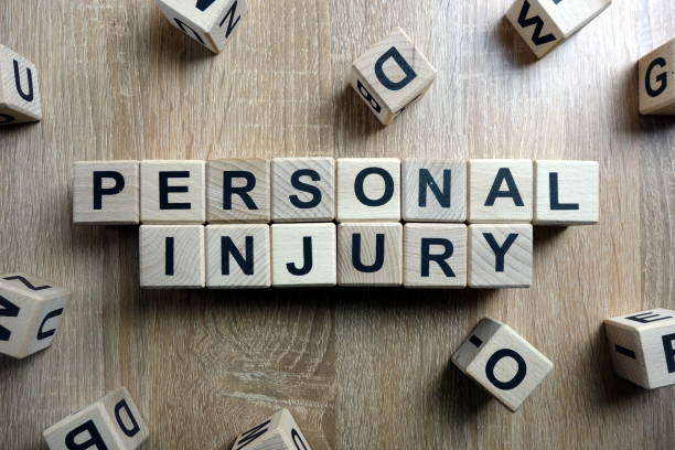Personal injury text from wooden blocks stock photo