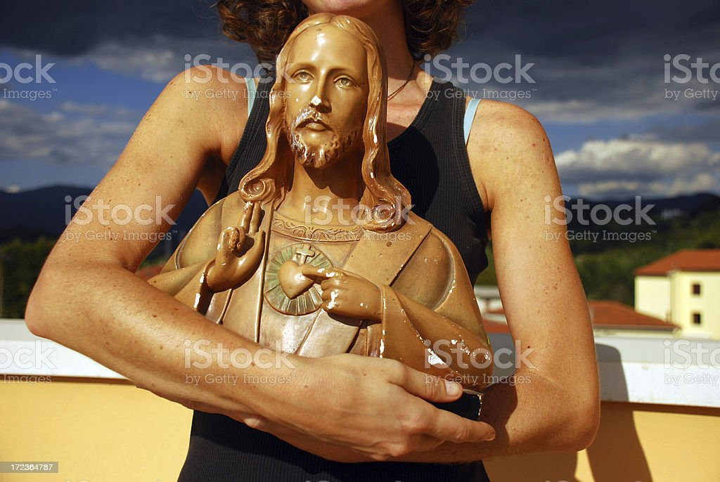 Personal Jesus royalty-free stock photo