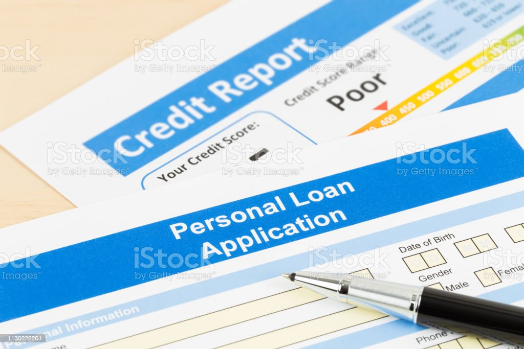 Personal Loan Credit Score 550 >> Personal Loan Application Form Poor Credit Score With Pen