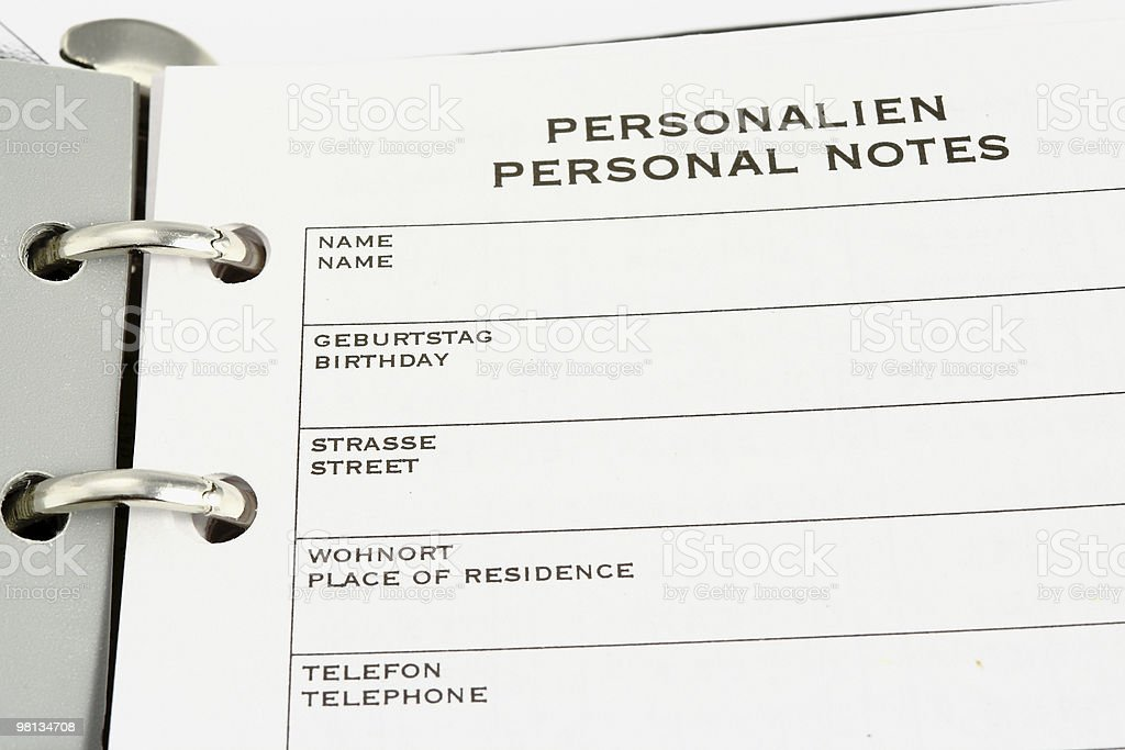 personal notes royalty-free stock photo