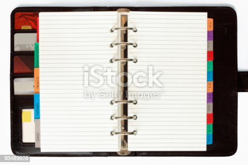istock Personal Organizer with Credit Cards 93489926