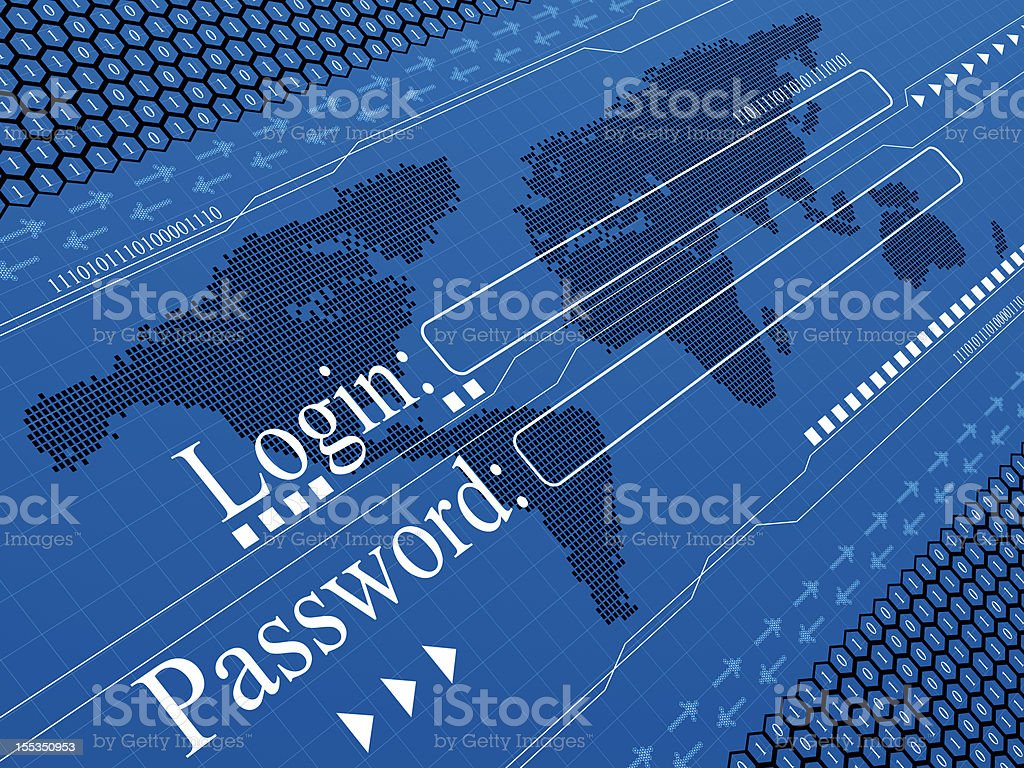 Personal Password security royalty-free stock photo