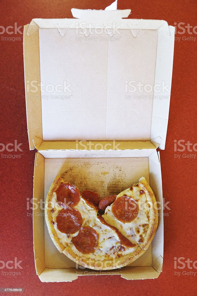 Personal Pepperoni Pizza royalty-free stock photo