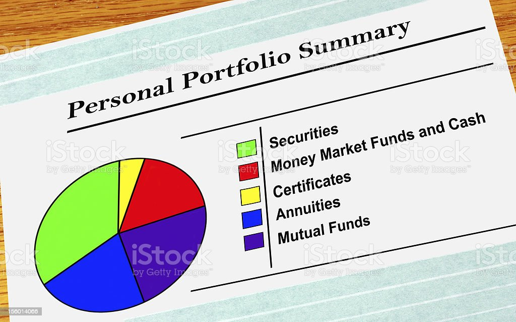 Personal Portfolio Summary stock photo
