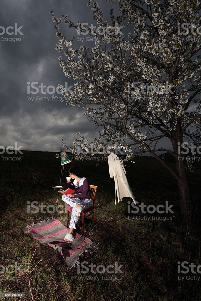 Personal reading place royalty-free stock photo