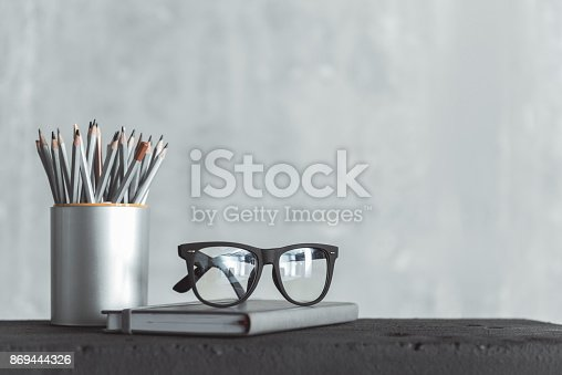 istock Personal things of skillful worker 869444326