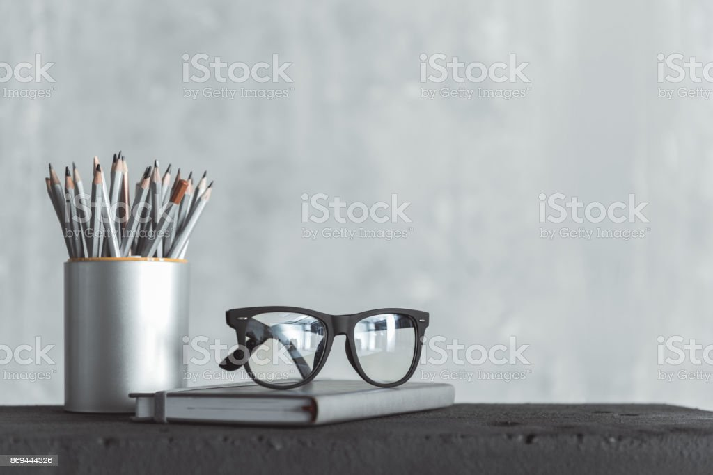Personal things of skillful worker stock photo