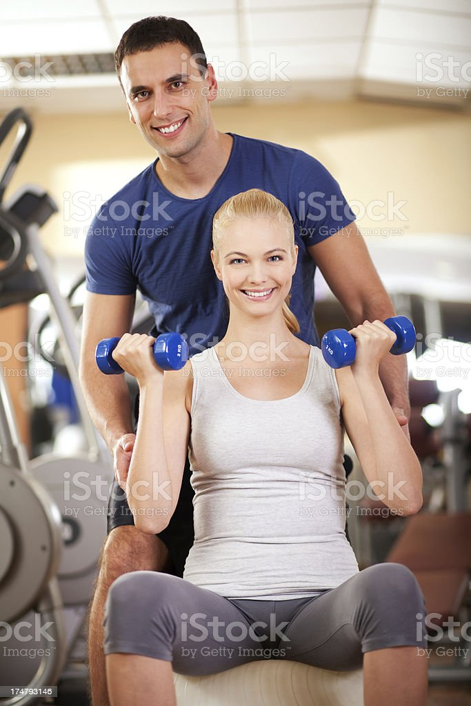 Personal trainer royalty-free stock photo