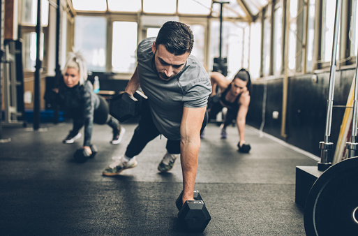 Personal Weight Training In The Gym Stock Photo - Download Image Now