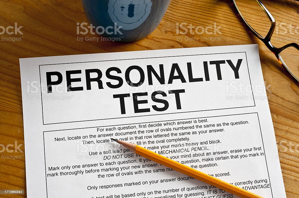 Personality Test stock photo