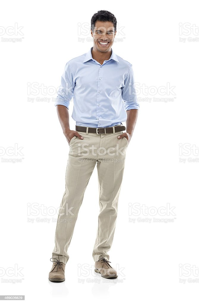 Personality to match his style stock photo