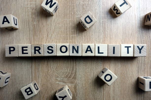 Personality word from wooden blocks stock photo