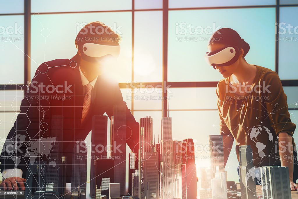 persons are developing a project stock photo