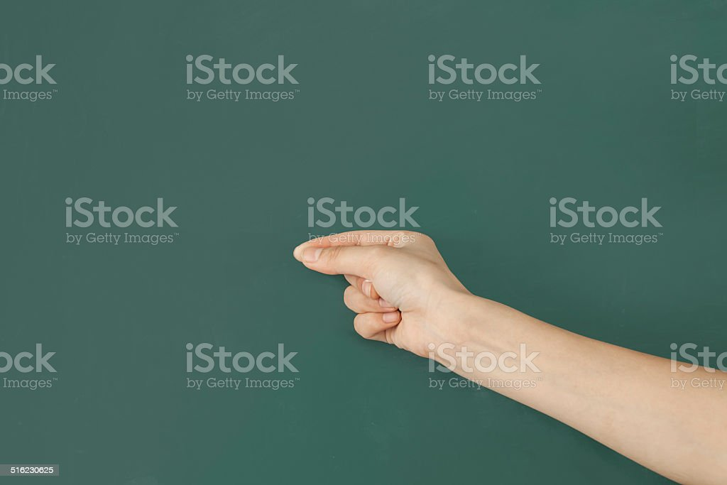 Person's Hand Gesturing stock photo