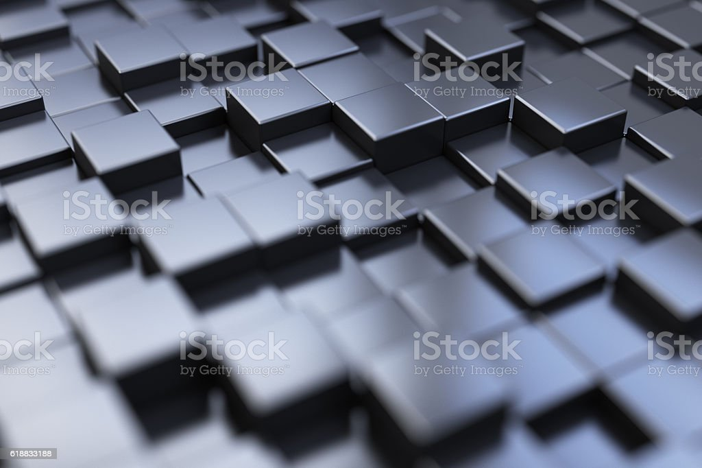 Perspective abstract cube background – zdjęcie