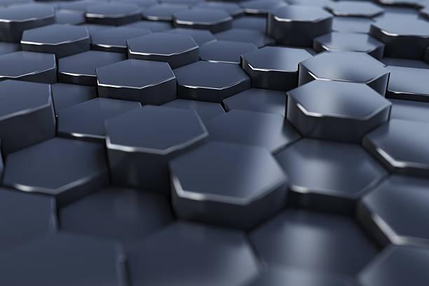 Perspective abstract hex background – zdjęcie