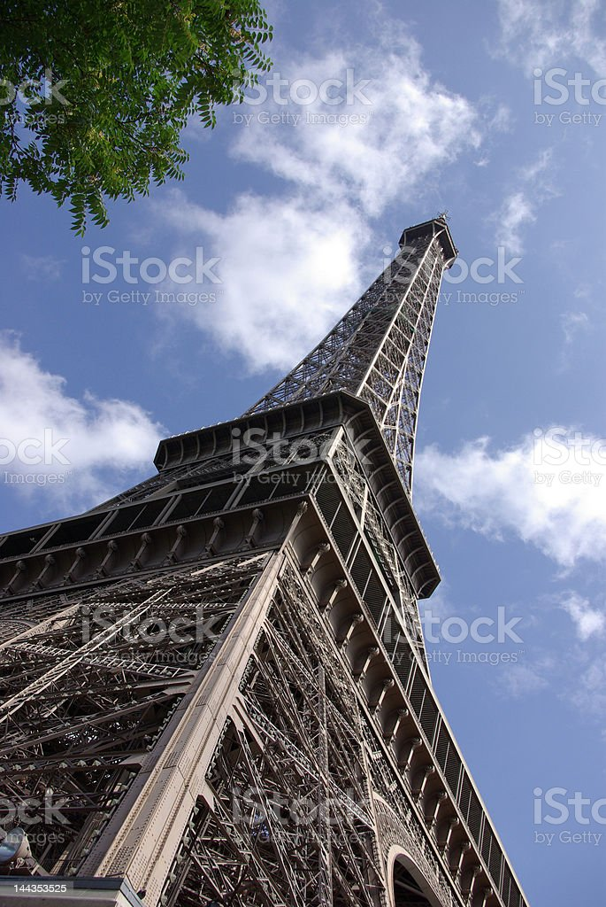 perspective effeil tower stock photo