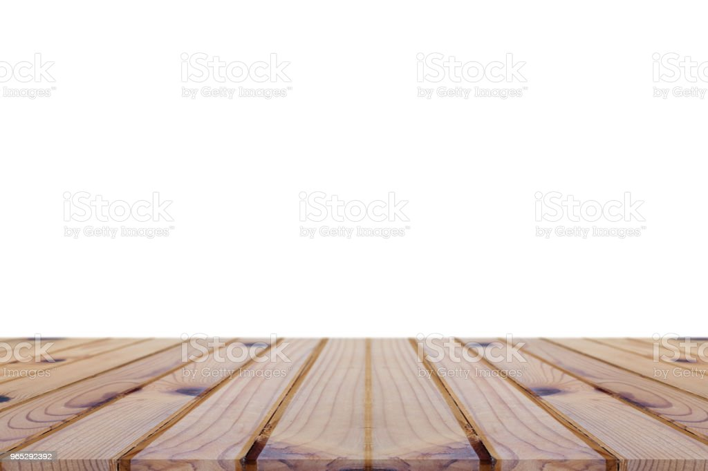 Perspective empty wooden table on top over blur background, can be used mock up for montage products display or design layout. zbiór zdjęć royalty-free