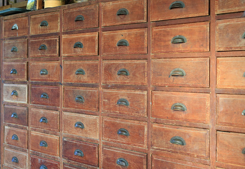 668340340 istock photo Perspective of an old wooden drawer. 940914252