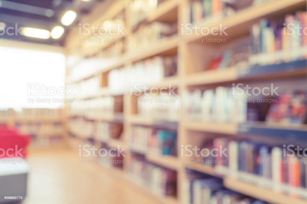 模糊的書架上的角度來看圖像檔
