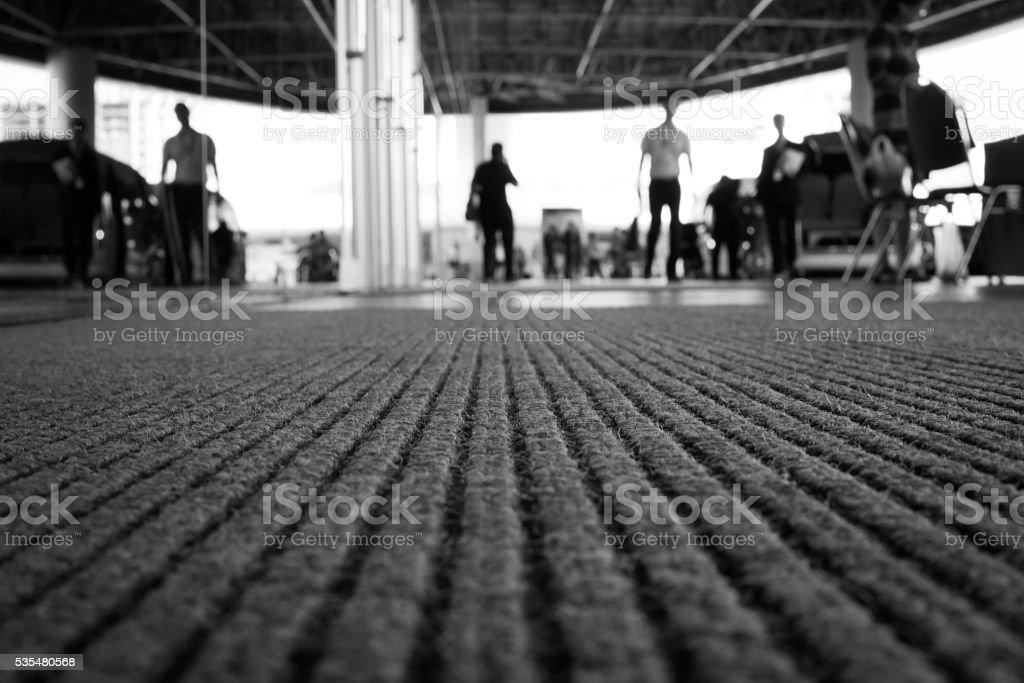 Perspective of doormat stock photo